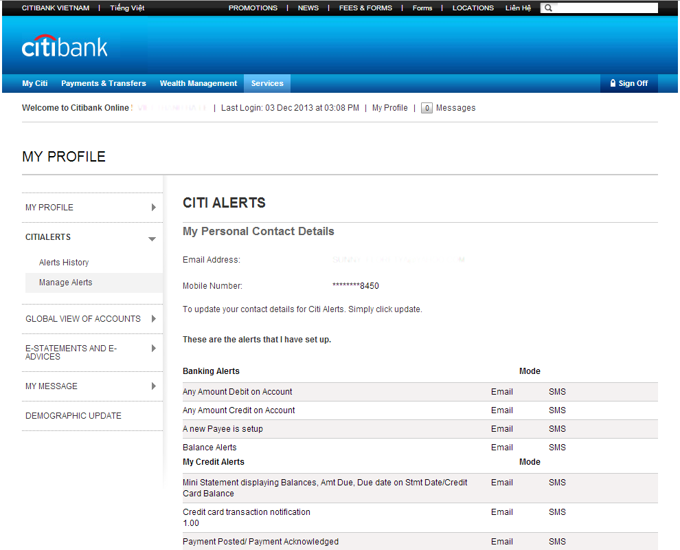 Internet Banking, Ebanking and Online Banking Services – Citibank