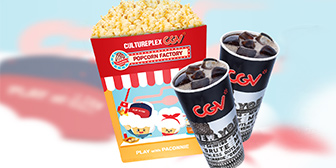 Free Drinks and popcorn combo at CGV