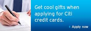 Apply for a Citibank Credit Card today to enjoy attractive privileges.